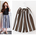 3 to 14 years kids & teenager girls 2017 summer vertical striped wide leg pants children fashion polyester pants clothes