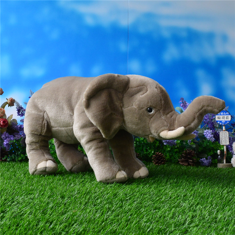 Large  Plush  Doll  Stuffed Toys   Simulation Animal Asian Elephant  Children'S Big Toy Pillow  Gift Good Quality stuffed animal 145cm plush tiger toy about 57 inch simulation tiger doll great gift w014