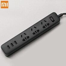 Original Xiaomi Poder Tira Tomada Com Tomada Padrão 3 3 Conversor De Energia Adaptador de Porta USB de Carregamento Rápido