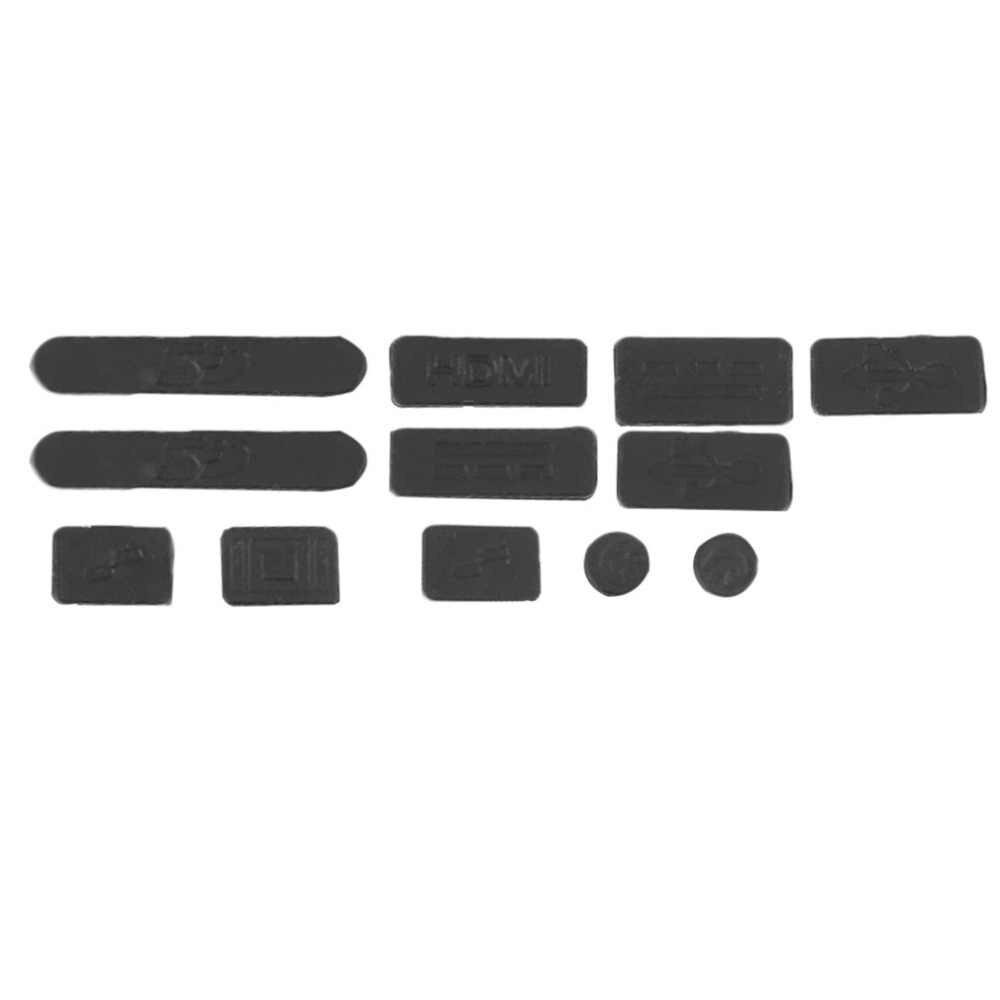 12 unids/set profesional de silicona Anti-cubierta de tapón de polvo tapón portátil a prueba de polvo USB polvo enchufe cubierta adecuado para Macbook