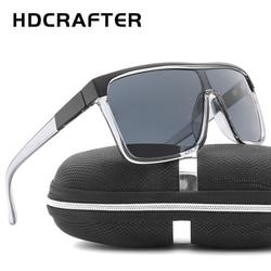 HDCRAFTER Luxury Square Shield Men Sunglasses Driving Male Brand Sun Glasses For Men Cool Shades Mirror lens Oculos