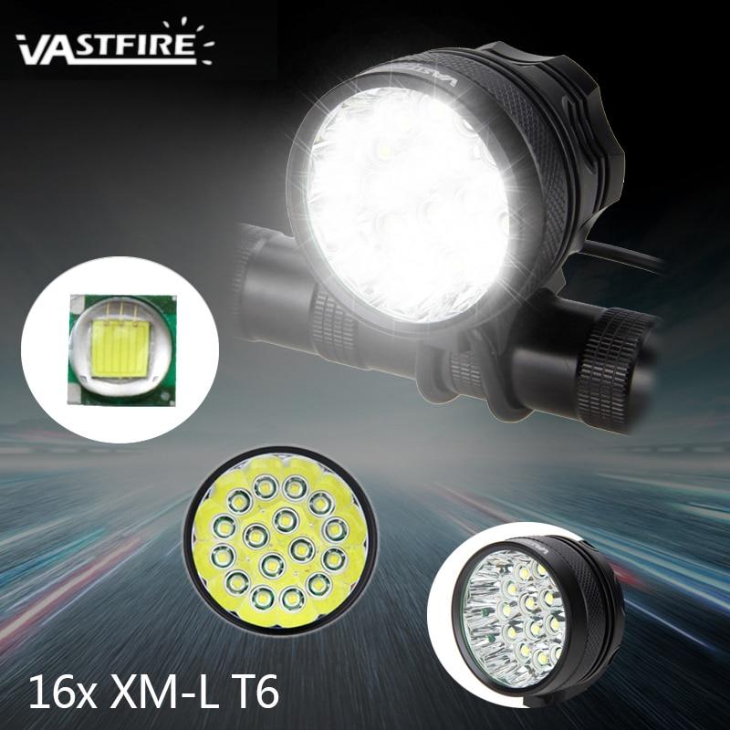 Super Forte 20000 Lumens 16x XM-L T6 LED Lampe De Vélo Avant Phare Bike Light Torche + Batterie + Chargeur