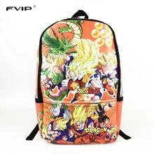 FVIP Colorful Printing Dragon Ball Z Backpack Boys Girls School Bags Super Saiyan Sun Goku Backpack For Teenagers Kids Daily Bag