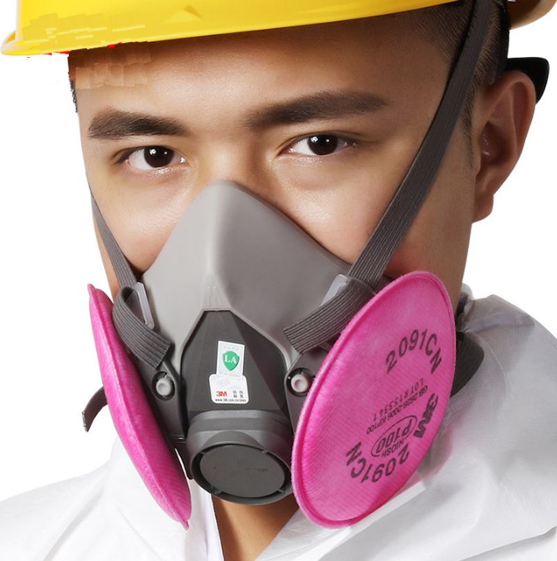 Image 5 - 9in1 3M 6200 Half Facepiece Gas Mask Respirator With 6001/2091 Filter Fit Painting Spraying Dust Proof-in Masks from Security & Protection