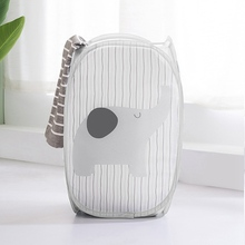 Household Hamper Foldable Cartoon Storage Basket Home Laundry Baskets Toy Container Z