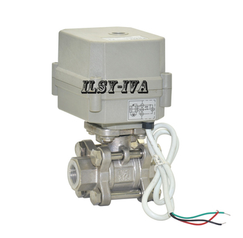 цена на DN15,DN20,DN25 three piece type electric ball valve,2 way AC110~230V stainless steel Motorized ball valve