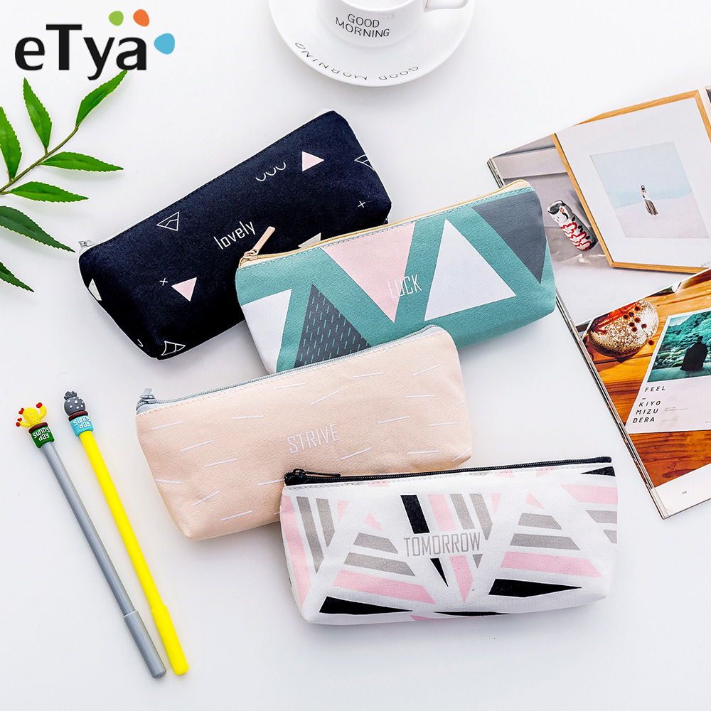 ETya Travel Essential Cosmetic Bag Women Toiletry Pencil Make Up Makeup Case Storage Pouch Purse Organizer Cute Cosmetics Bag