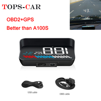 2019 New M7 GPS HUD Car OBD2 HUD Head Up Speed Display OBD On board Computer Overspeed Warning