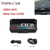 2019 New M7 GPS HUD Car OBD2 HUD Head Up Speed Display OBD On board Computer Overspeed Warning