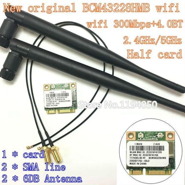Broadcom BCM943228HMB/BCM43228 2.4 ГГц/5 ГГц Беспроводной 802.11A/B/G/N И Bluetooth BT 4.0 Половина MINI PCI-E WI-FI Карты 6DB антенны