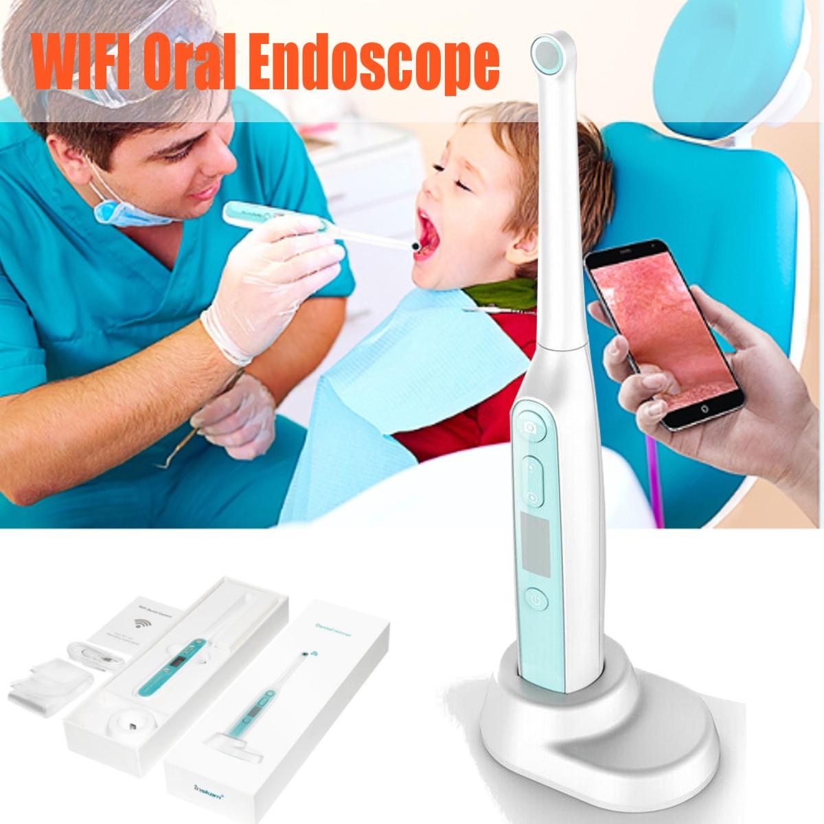 Caméra dentaire sans fil WiFi Endoscope intra-oral HD avec 8 lumières Led Inspection pour dentiste Oral outils dentaires vidéo en temps réel