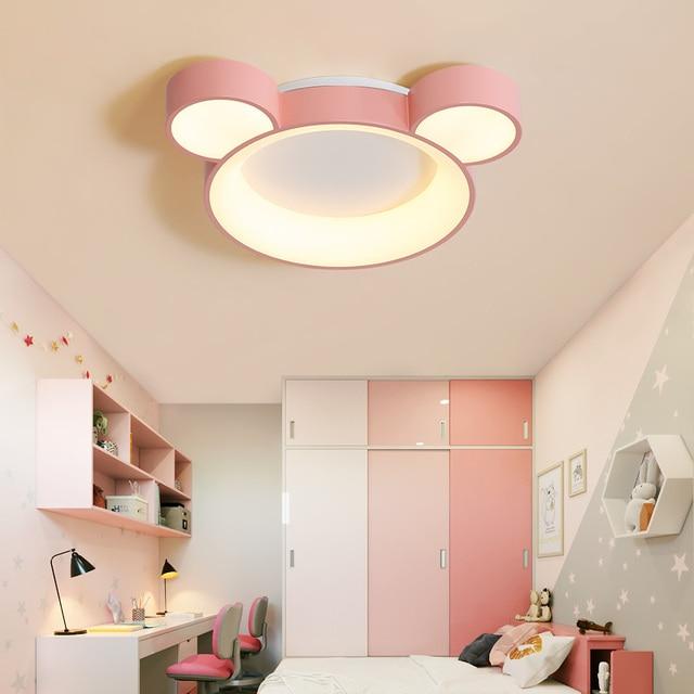 580x450mm White Pink Blue Finished Modern Led Chandelier For Kid S Room Children Bedroom Ceiling Fixture