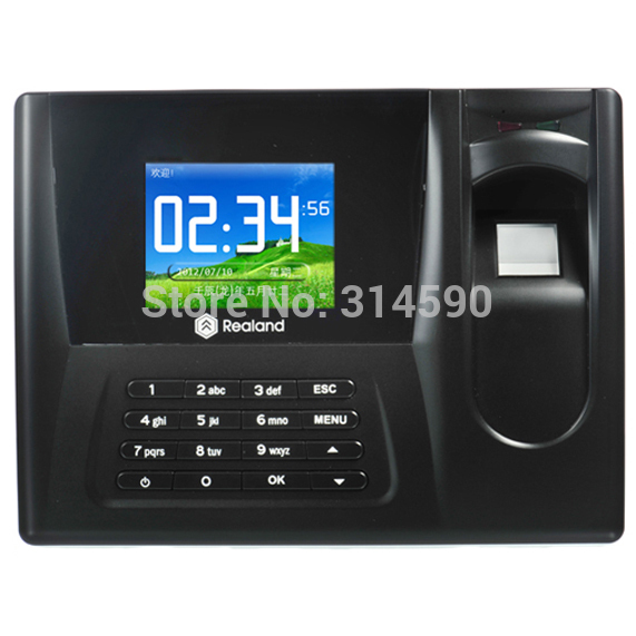 Realand Fingerprint Time attendance 2.8 TFT TCP/IP Fingerprint Time Recorder With 125Khz RFID Card Support Spanish Language realand 2 8 inch tft biometric fingerprint attendance fingerprint time clock terminal with 125khz card