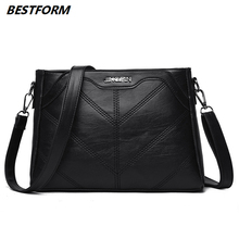 BESTFORM Luxury Brand Shoulder Bags Women Messenger Bag Leather Woman Large Capacity Soft Korean Female Fashion Evening