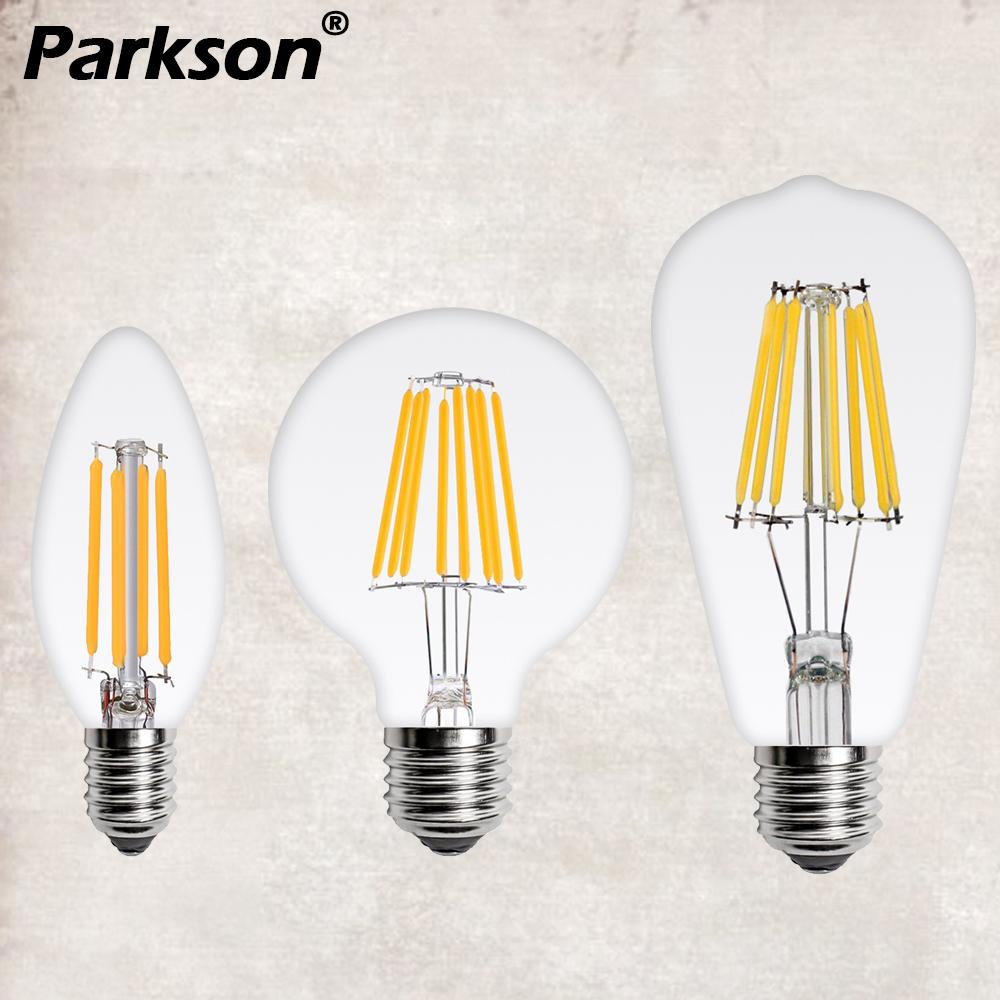 Vintage LED Edison Bulb E27 Retro Lamp 220V 2W 4W 6W 8W Antique LED Filament Light E14 Glass Ball Bombilla LED Bulb Candle Light