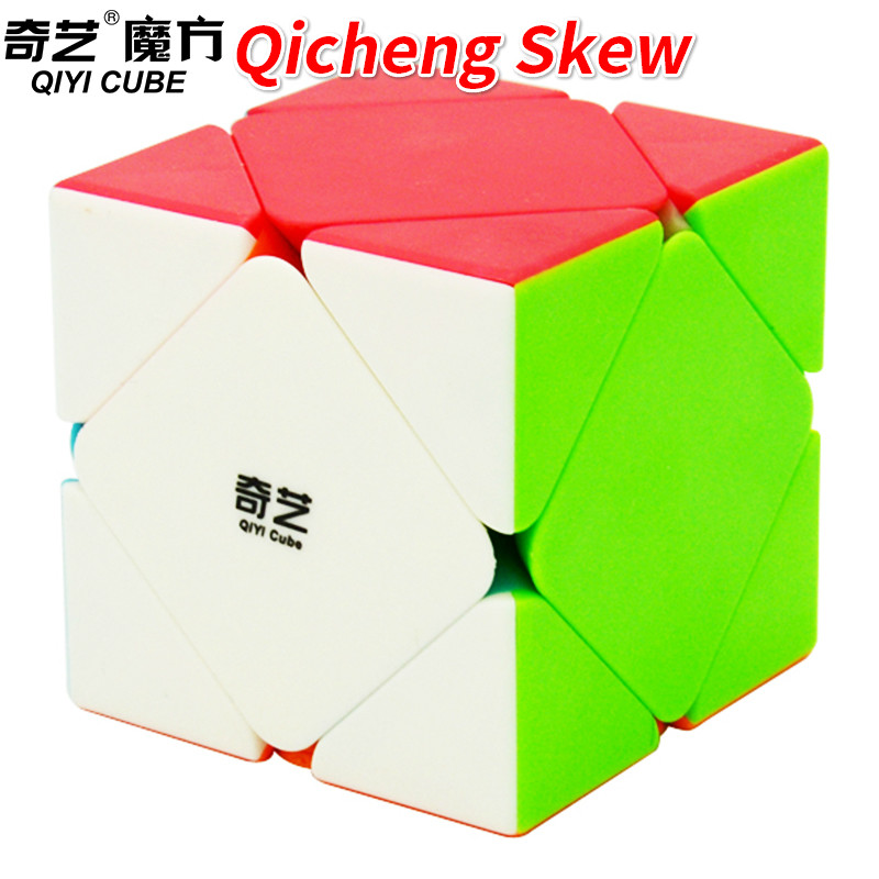 Qiyi Qicheng Skew Magic Cube 56mm Speed Cube Stickerless/Qicheng A Black Puzzle Toys for Kids Qiyi Qicheng Skew Magic Cube 56mm Speed Cube Stickerless/Qicheng A Black Puzzle Toys for Kids