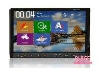 Evrensel 7 inç slayt aşağı Bluetooth ile 2 din araba radyo DVD + Oyun + Direksiyon Kontrolü + SD + USB otomotiv PC Ses Kafa Ünitesi