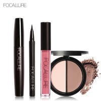 Focallure Lip Paint Matte Lip Gloss Waterproof Liquid Eyeliner Pen Black Mascara Bronzer Highlighter Powder Palette