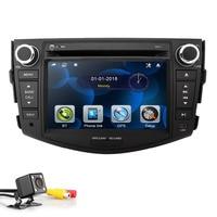 7 Inch Car DVD Player For Toyota RAV 4 RAV4 2006 2012 2 Din Car Audio Radio Stereo GPS Navigation Mirror Steering Wheel CD BT TV