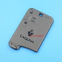 1 шт./лот пустой ключ замена 3 кнопки smart key card shell без лезвия для renault laguna 2 с логотипом поставка в 12 часов