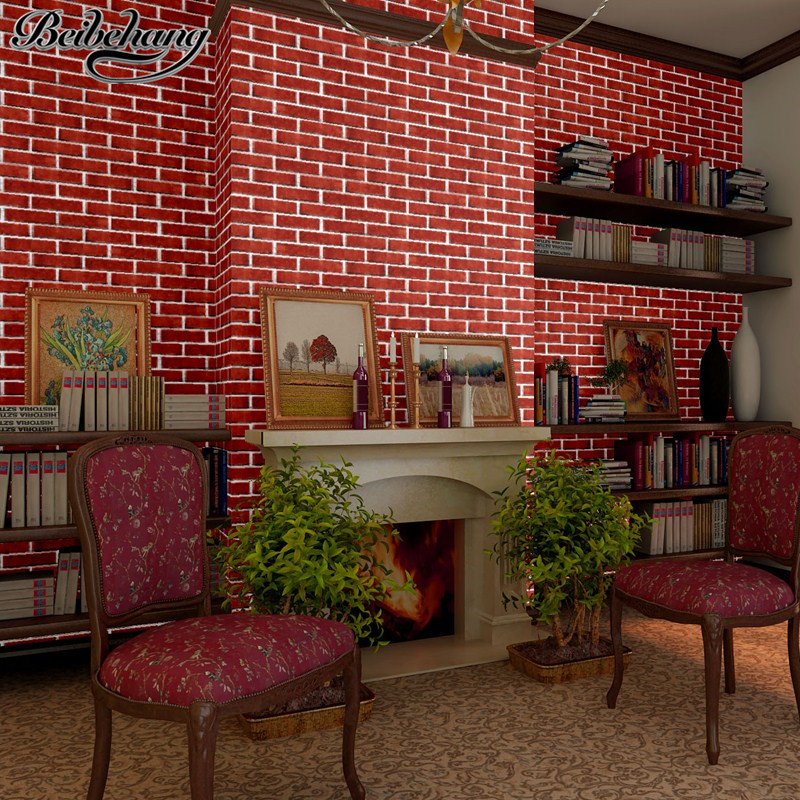 beibehang wallpaper Chinese Culture Brick Tile Wallpaper Living Room Restaurant Chess Room Barbecue Bar Background Wallpaper