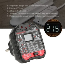 HT106D Socket Testers Voltage Test detector EU Plug Ground Zero Line Polarity Phase Check