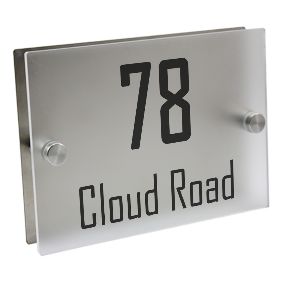 Doorplate Personalized House Number