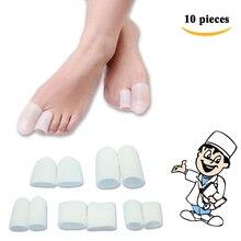 10 шт., мягкие гелевые защитные накладки на пальцы ног для снятия боли, для пальцев ног, мозолей, мозолей, d0185