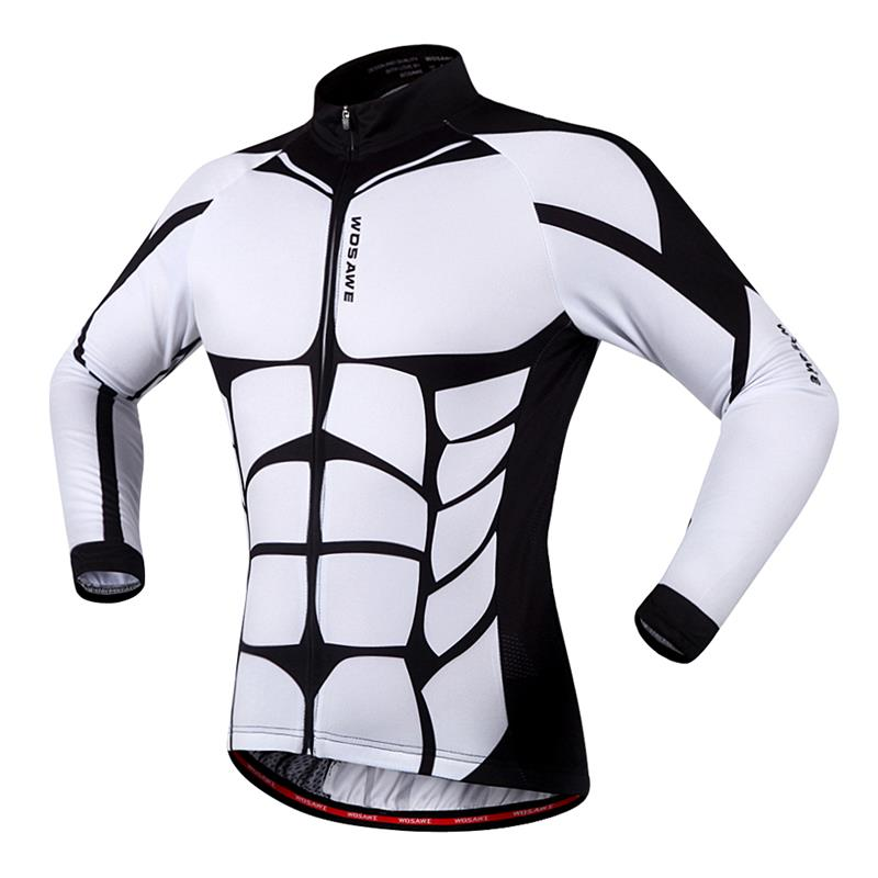 7ef422125 WOSAWE 100% POLYESTER Men s Cycling Jersey Long Sleeve Outdoor Sports  Bicycle Cycle Clothing Quk Dry Riding Clothes-in Cycling Jerseys from Sports  ...