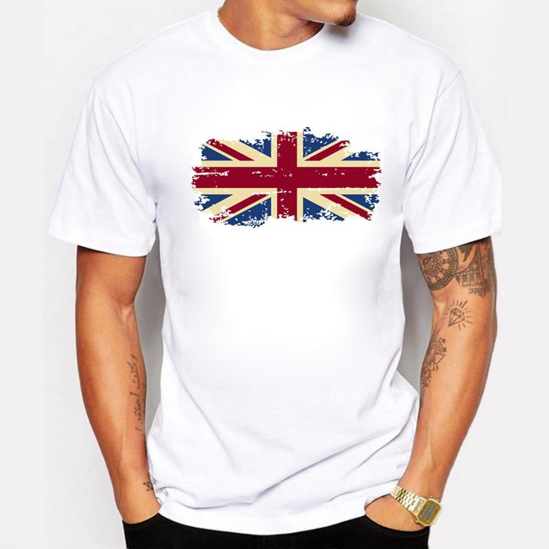 Egyesült Királyság National Flag Férfi T-shirt Casual Short - Férfi ruházat