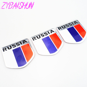 2018 High Quality 3D Aluminum Flag Russia Car Sticker Accessories Stickers for Toyota Camry Corolla RAV4 Yaris Highlander/Land image