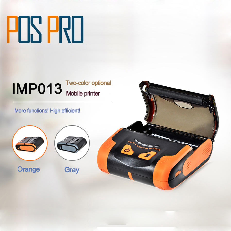 IMP013 USB+Bluetooth 80mm Mobile Mini Thermal Printer Lithium-ion batteries support Arabic Thai printing Bluetooth and USB Port