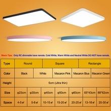 LED Ceiling Panel Lamp Fixture Mount Flush Remote Control Lighting