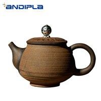 150 ml 크리 에이 티브 주전자 수제 세라믹 도자기 차 주전자 중국어 쿵푸 차 세트 빈티지 drinkware teaware 커피 우유 주전자 아트