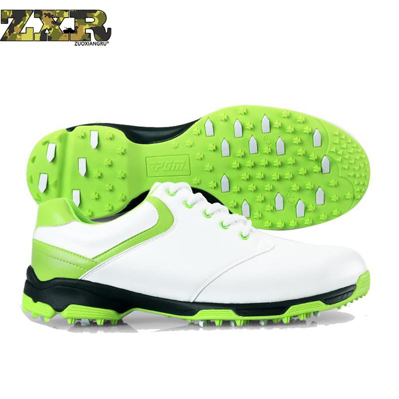 Waterproof Breathable Patent Design Men Outdoor Sport Shoes Anti-skid Super Light Good Grip Comfortable Leather Golf Shoes цена