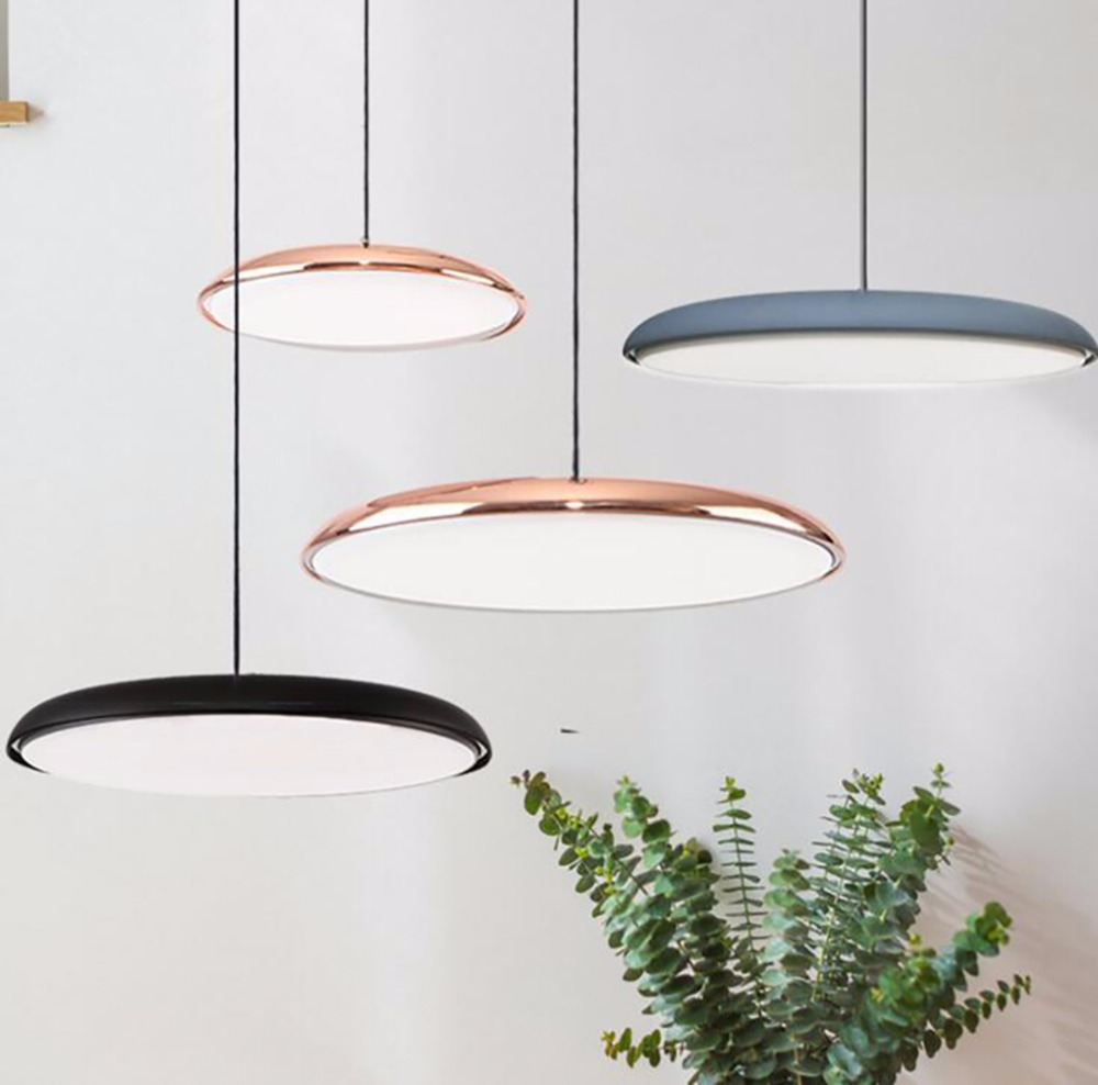 LED Circular Thin Simple Minimalism Pendant Light For Foyer Restaurant Dining Room Modern Creative Artistical LampsLED Circular Thin Simple Minimalism Pendant Light For Foyer Restaurant Dining Room Modern Creative Artistical Lamps