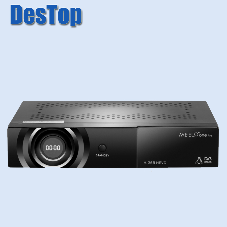 1pc Hot sale full HD satellite tv receiver MEELO ONE PRO H 265 HEVC AVC Linux