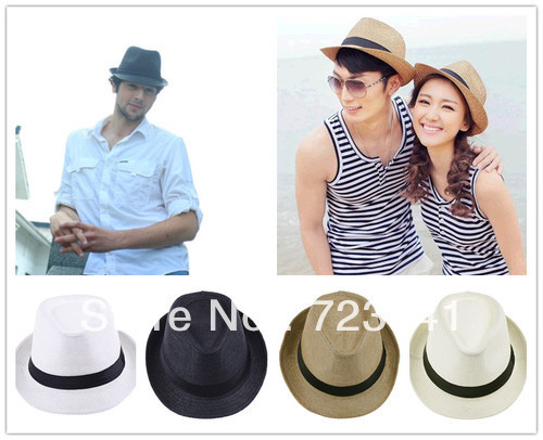 2013 New Fashion Womens Mens Unisex Fedora Trilby Gangster Cap