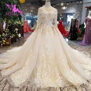 Image 2 - AIJINGYU تول فستان حمل أثواب زائد حجم الإسلامية اليابان الحقيقي ثوب الذيل فساتين الزفاف الرسمي