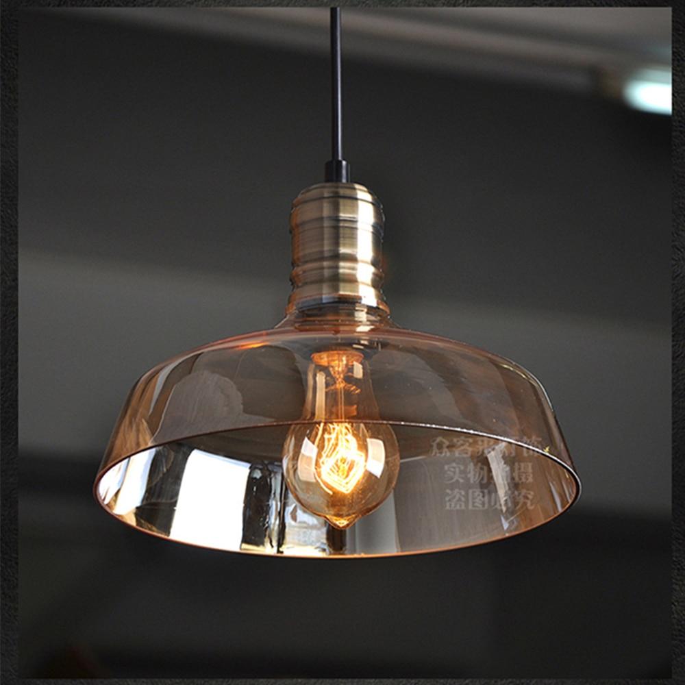 цена American retro industrial chandeliers simple creative style restaurant bar clothing store Edison glass chandeliers WPL292 онлайн в 2017 году