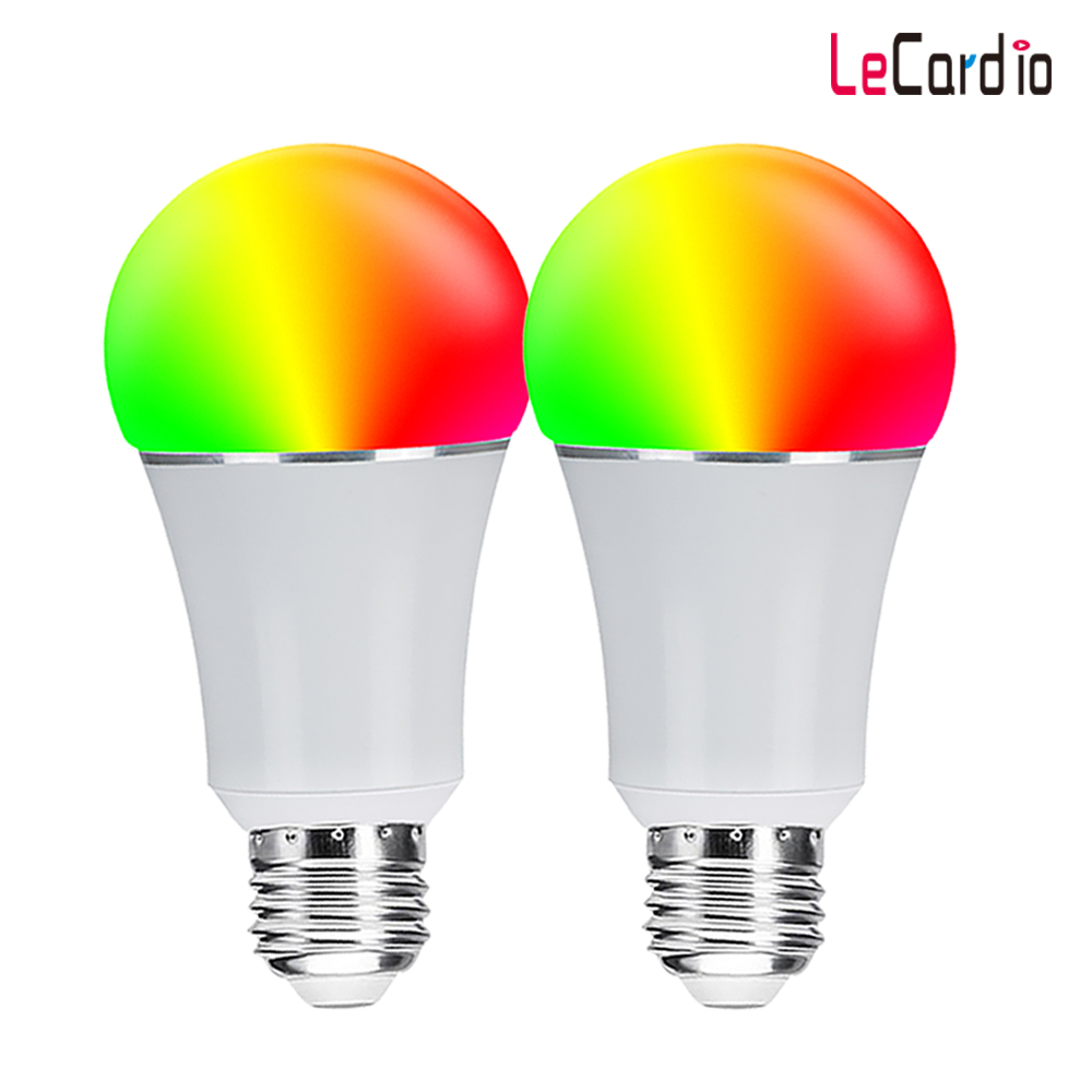 Smart Light Bulb Wifi Control 7W 85 265V, Dimmable Multi Color Stage Lamp Compatible with Alexa Echo Google Home Assistant