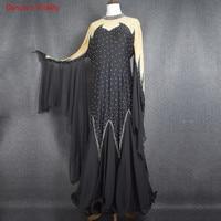 2018 New diamond Big Swing Dress Women Ballroom Dance Dress Competition Clothes Ladies Latin Dance Performance Costume