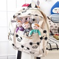 HOT Small Mouse Backpacks Cotton Canvas Little Baby Children Girls Bagpack Cartoon School Bags Schoolbags for Kids Kindergarten