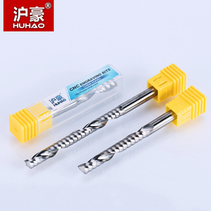 Image 4 - HUHAO 1PC 6mm one Flute Spiral Cutter router bit CNC end mill For MDF carbide milling cutter tugster steel router bits for wood