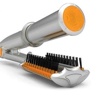 Image 2 - כסף 2 ב 1 שיער מחליק יישור איירונס עבור רב שיער סטיילינג עם LED אור מהבהב שיער שטוח ברזל