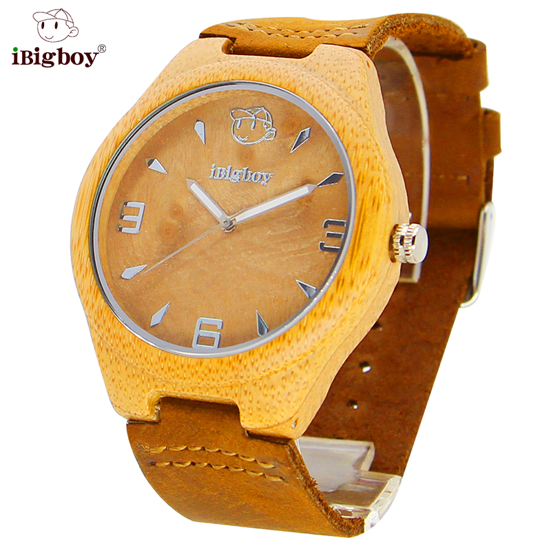 e5f0fe6f63ef Madera CALIENTE Relojes Hombres Movimiento De Cuarzo Reloj de Cuero Reloj  de Las Mujeres De Bambú Natural Ladies Sport Reloj de Pulsera Para Hombres  Relogio ...