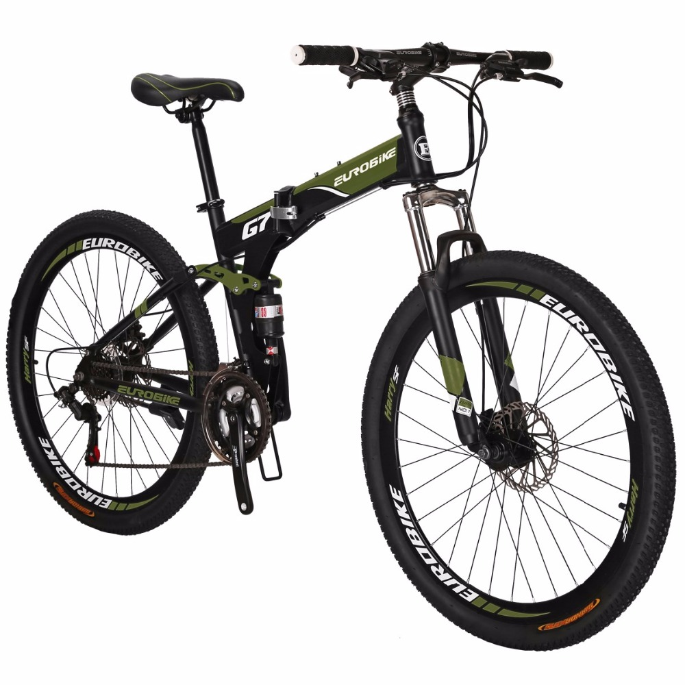 "27.5/"" Full Suspension Mountain bike Folding Bike 21 Speed Bicycle Mens MTB Disc"