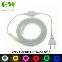 LED Neon Strip AC220V 120 LED Meter 2835 Flexible Neon Light Waterproof Outdoor Decorative LED Strip