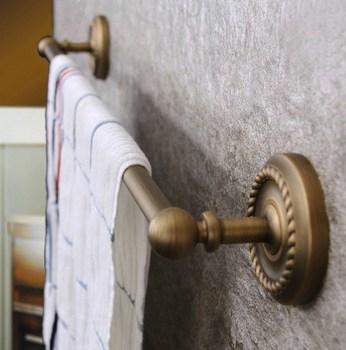 цена на Wall Mounted Vintage Retro Antique Brass Bathroom Single Towel Bar Towel Rail Holder Bathroom Accessory mba085