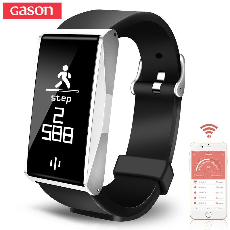 GASON BL86 bande À Puce Bracelet Moniteur de Fréquence Cardiaque Podomètre Fitness tracker Smartband Bracelet